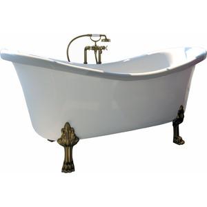 Ванна из литого мрамора Фэма Стиль Габриэлла 189х87 см лапы сакарская медь ванна из литого мрамора фэма стиль айсберг 180х80 см