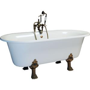 Ванна из литого мрамора Фэма Стиль Феррара 175х80 см лапы бронза ванна из литого мрамора фэма стиль айсберг 180х80 см
