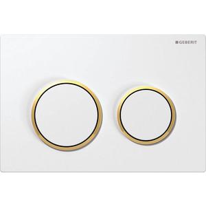 все цены на  Geberit Omega 20 двойной смыв (115.085.KK.1) белый/золото  онлайн