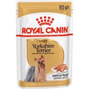 Паучи Royal Canin Adult Yorkshire Terrier паштет для собак от 10 месяцев породы Йоркширский терьер 85г (140012)