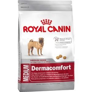 Сухой корм Royal Canin Medium Dermacomfort для собак средних пород склонных к кожным раздражениям и зуду 10кг (117100) корм сухой royal canin mini light weight care для взрослых собак склонных к ожирению 2 кг