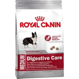 Сухой корм Royal Canin Medium Dagestive Care для собак средних пород с чувствительным пищеварением 15кг (119150) корм сухой royal canin mini light weight care для взрослых собак склонных к ожирению 2 кг