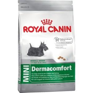 Фото - Сухой корм Royal Canin Mini Dermacomfort для собак мелких пород склонных к кожным раздражениям и зуду 2кг (380020) trixie стойка с мисками trixie для собак 2х1 8 л