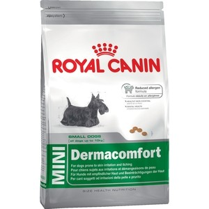 Сухой корм Royal Canin Mini Dermacomfort для собак мелких пород склонных к кожным раздражениям и зуду 4кг (380040) корм сухой royal canin mini light weight care для взрослых собак склонных к ожирению 2 кг
