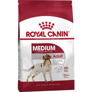 Сухой корм Royal Canin Medium Adult для собак средних пород 4кг (321040) ноутбук lenovo 110 17acl 80um003drk amd a6 7310 2 0 ghz 4096mb 500gb dvd rw amd radeon r4 wi fi bluetooth cam 17 3 1600x900 windows 10 64 bit