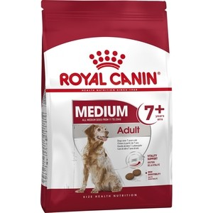 Сухой корм Royal Canin Medium Adult 7+ для собак средних пород старше 7 лет 15кг (322150) пудовъ мука ржаная обдирная 1 кг