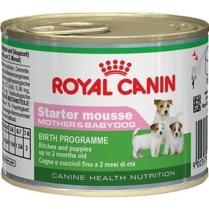 Консервы Royal Canin Starter Mousse Mother & Babydog щенков до 2-х месяцев, беременных и кормящих собак 195г (664002)