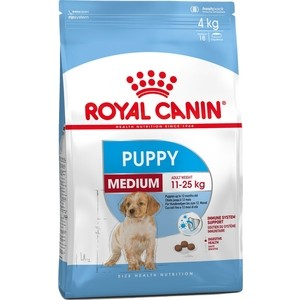 Сухой корм Royal Canin Medium Junior для щенков средних пород 4кг (190040) binful 6 7 9 9 7 soft tablet case cover for ipad mini 2 3 4 air 1 universal liner sleeve tablets zipper pouch bag