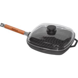 Сковорода гриль со съемной ручкой 28 см Биол (1028С) биол сковорода гриль чугунная биол со съемной ручкой 24 см