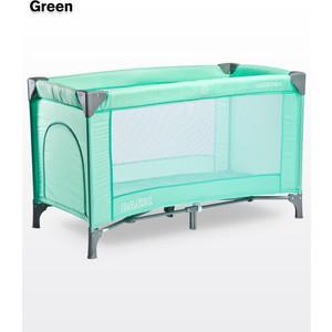 Манеж-кровать Caretero Basic Green (зеленый) телефонная розетка abb bjb basic 55 шато 1 разъем цвет черный