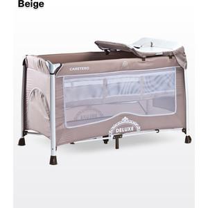 Манеж-кровать Caretero Deluxe Beige (бежевый)