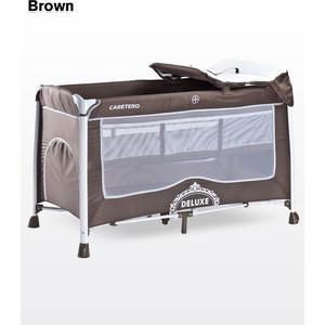 Манеж-кровать Caretero Deluxe Brown (коричневый)