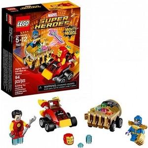 Игрушка Lego Супер Герои Mighty Micros: Железный человек против Таноса (76072) конструкторы lego lego super heroes mighty micros железный человек против таноса 76072