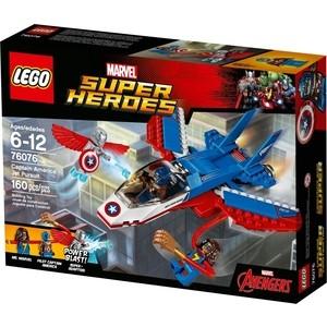 Игрушка Lego Супер Герои Воздушная погоня Капитана Америка (76076) конструкторы lego lego воздушная погоня капитана америка 76076