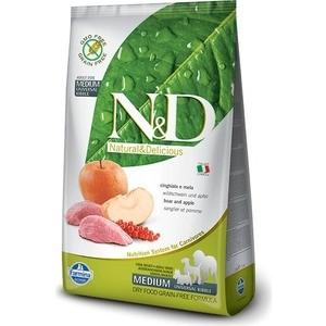 Сухой корм Farmina N&D Adult Dog Medium GF Boar & Apple беззерновой с мясом кабана и яблоком для собак всех пород 800г (20338)