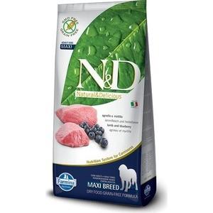 Сухой корм Farmina N&D Adult Dog Maxi GF Lamb & Blueberry беззерновой с ягненком и черникой для собак крупных пород 12кг (21878)