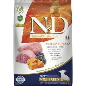 Сухой корм Farmina N&D Puppy Mini GF Pumpkin Lamb & Blueberry беззерновой с ягненком черникой и тыквой для щенков мелких пород 7кг (33628)