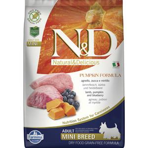 Сухой корм Farmina N&D Adult Dog Mini GF Pumpkin Lamb & Blueberry беззерновой с ягненком черникой и тыквой для собак мелких пород 7кг (33642)