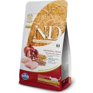 Сухой корм Farmina N&D Neutered Cat LG Chicken & Pomegranate низкозерновой с курицей и гранатом для стерилизованных кошек 10кг (00754)