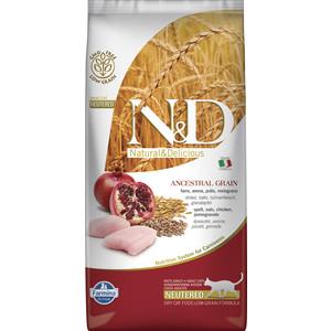 Сухой корм Farmina N&D Neutered Cat LG Chicken & Pomegranate низкозерновой с курицей и гранатом для стерилизованных кошек 5кг (32751)