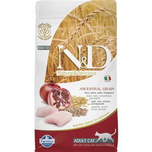 Сухой корм Farmina N&D Adult Cat LG Chicken & Pomegranate низкозерновой с курицей и гранатом для кошек 1,5кг (21571)