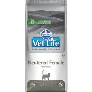 Сухой корм Farmina Vet Life Neutered Female Feline диета для стерилизованных кошек 2кг (22509) сухой корм farmina vet life diabetic feline диета при сахарном диабете для кошек 2кг 25326