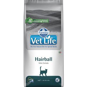 Сухой корм Farmina Vet Life Hairball Feline диета для выведения шерсти из желудка для кошек 2кг (22783) сухой корм farmina vet life diabetic feline диета при сахарном диабете для кошек 2кг 25326