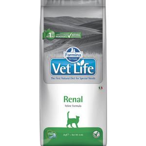 Сухой корм Farmina Vet Life Renal Feline диета при почечной недостаточности для кошек 2кг (25302) сухой корм farmina vet life diabetic feline диета при сахарном диабете для кошек 2кг 25326