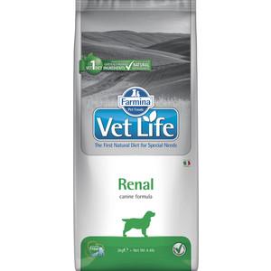 Сухой корм Farmina Vet Life Renal Canine диета при заболеваниях почек для собак 2кг (25241) сухой корм farmina vet life diabetic feline диета при сахарном диабете для кошек 2кг 25326