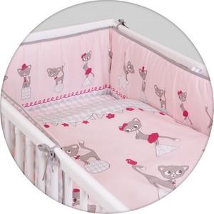 Постельное белье Ceba Baby (Себа Беби) 3 пр. Cats pink Lux принт W-800-069-130-1