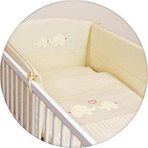 где купить Постельное белье Ceba Baby (Себа Беби) 3 пр. Elephants Creamy вышивка W-806-057-171 по лучшей цене