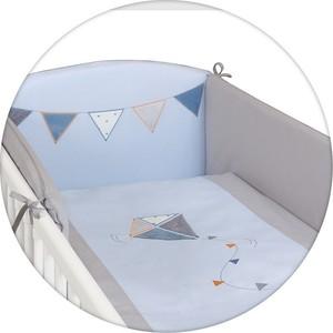 где купить Постельное белье Ceba Baby (Себа Беби) 3 пр. Kite blue-grey вышивка W-801-070-262 по лучшей цене