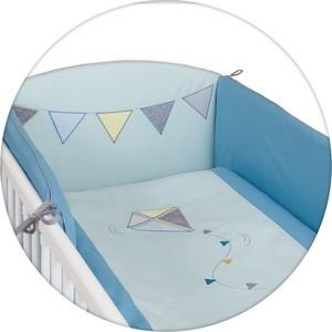 где купить Постельное белье Ceba Baby (Себа Беби) 3 пр. Kite mint-blue вышивка W-801-070-022 по лучшей цене