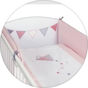 все цены на  Постельное белье Ceba Baby (Себа Беби) 3 пр. Kite white-pink вышивка W-801-070-007  онлайн