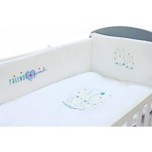 Постельное белье Fiorellino Friends Forever (Фиореллино Фрэндс Фореве) 5 предметов 120*60 кровать fiorellino alpina фиореллино альпина 120 60 white