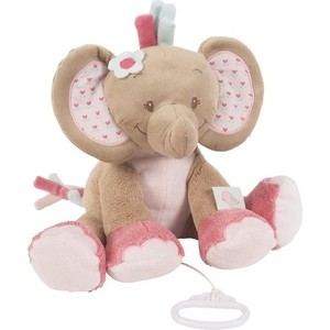 Игрушка мягкая Nattou Musical Soft toy (Наттоу Мьюзикал Софт Той) Charlotte & Rose Слоник музыкальная 655040