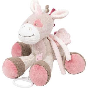 Игрушка мягкая Nattou Musical Soft toy (Наттоу Мьюзикал Софт Той) Nina, Jade & Lili Единорог музыкальная 987066 игрушка мягкая nattou musical soft toy наттоу мьюзикал софт той nina jade