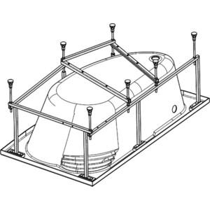 Каркас для ванны Alpen 170x110 (KMA170110) 49