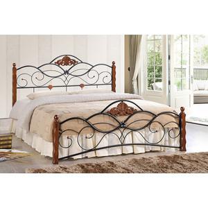 Кровать TetChair CANZONA 140x200 Черный/Красный дуб tetchair диван кровать newton