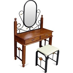 Столик туалетный TetChair AT-992 (DT-5), цвет черный/красный дуб кровать tetchair at 8077 120x200