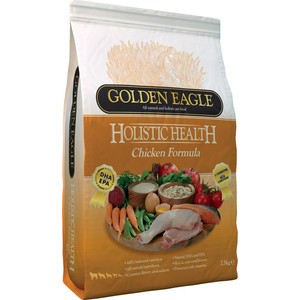 Сухой корм Golden Eagle Holistic Health Chicken Formula с курицей для собак 12кг (233032) сухой корм golden eagle holistic health duck with oatmeal formula с уткой и овсянкой для собак 2кг 233155