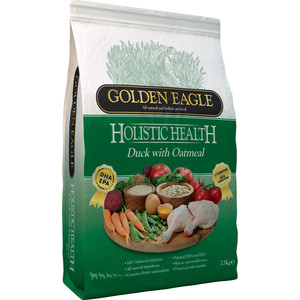 Сухой корм Golden Eagle Holistic Health Duck with Oatmeal Formula с уткой и овсянкой для собак 2кг (233155) сухой корм golden eagle holistic health duck with oatmeal formula с уткой и овсянкой для собак 12кг 233131