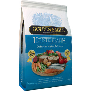 Сухой корм Golden Eagle Holistic Health Salmon with Oatmeal Formula с лососем и овсянкой для собак 12кг (233339) сухой корм golden eagle holistic health duck with oatmeal formula с уткой и овсянкой для собак 2кг 233155