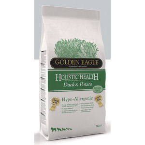 Сухой корм Golden Eagle Holistic Health Hypo-Allergenic GF Duck & Potato беззерновой гипоаллергенный с уткой и картофелем для собак 2кг (235111)