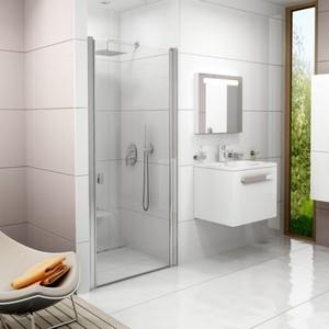 Душевая дверь Ravak CSD1-80 Transparent, профиль белый (0QV40100Z1)