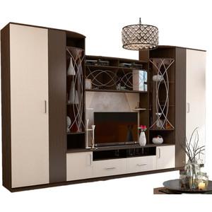 Гостиная Горизонт 41ГА Атланта (венге / дуб) тумбочка мебель трия прикроватная токио пм 131 03 см дуб белфорт венге цаво