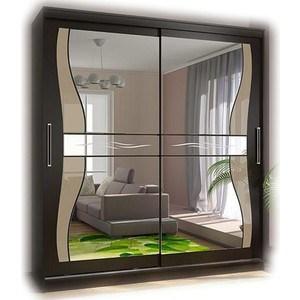 Шкаф-купе Стиль Комфорт 12 Комплект зеркал №1 (фигурные+лакобель ), венге комплект мягкой мебели комфорт 3 1 1