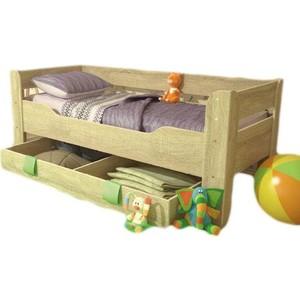 Кровать детская Стиль Мийа 4 с ящиком, дуб сонома светлый