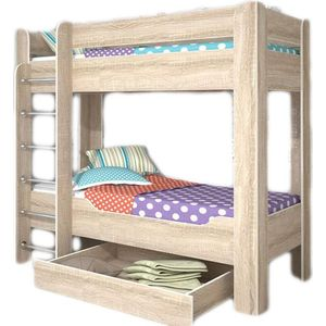 Кровать двухъярусная Стиль Мийа-4 Каркас- Дуб Сонома светлый