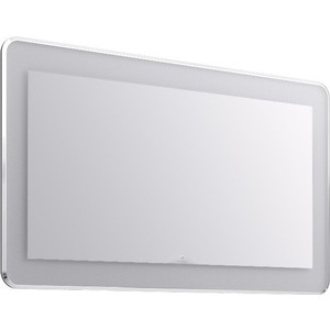 Зеркало Aqwella Malaga с подсветкой (Mal.02.12)  aqwella анкона 25 глянец бордо